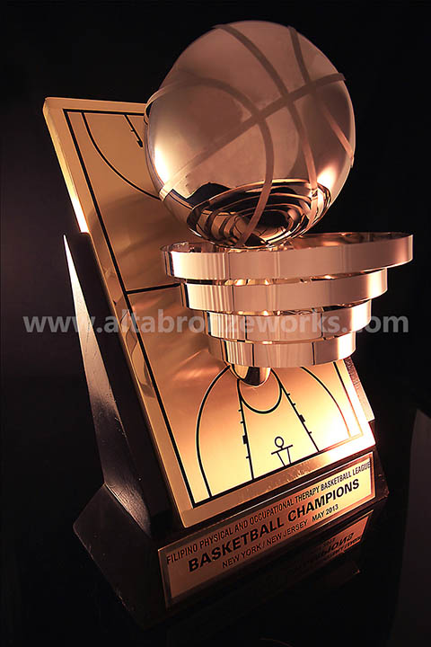 H6Basketball Trophy H6 CodeBRASS BASKETBALL